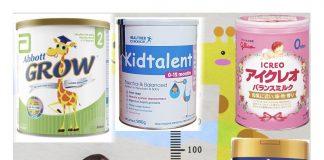Những sữa phát triển chiều cao và trí não tốt cho trẻ dưới 1 tuổi