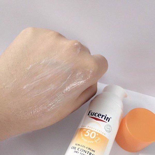 cảm nhận sau khi dùng kcn Eucerin Sun Gel Creme Oil Control