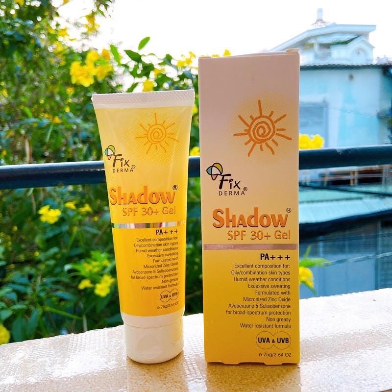 thiết kế của gel chống nắng Fixderma Shadow SPF 30