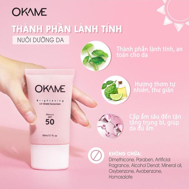 thành phần kcn Okame Brightening UV Shield Sunscreen