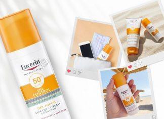 review kcn cho da treatment Eucerin Sun Gel Creme Oil Control