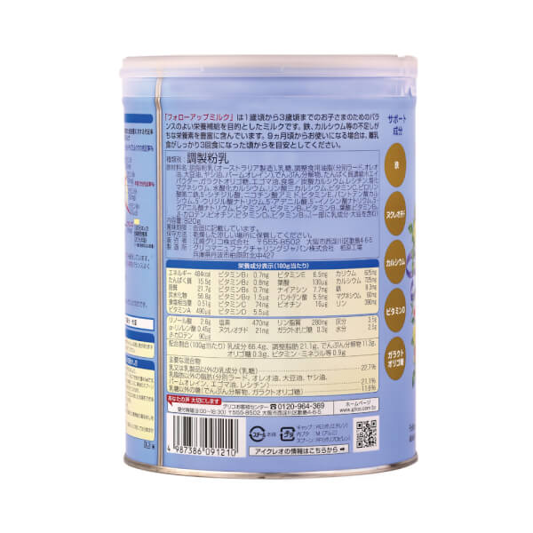thành phần Sữa Glico Icreo số 1