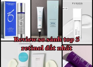 review so sánh 5 loại retinol đắt và hiệu quả nhất