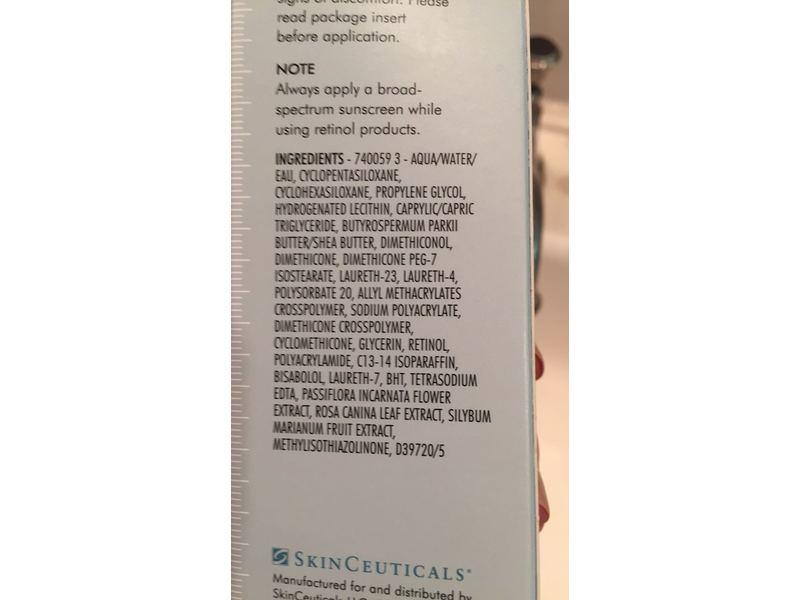 thành phần serum retinol SkinCeuticals 0,3-0,5-1%
